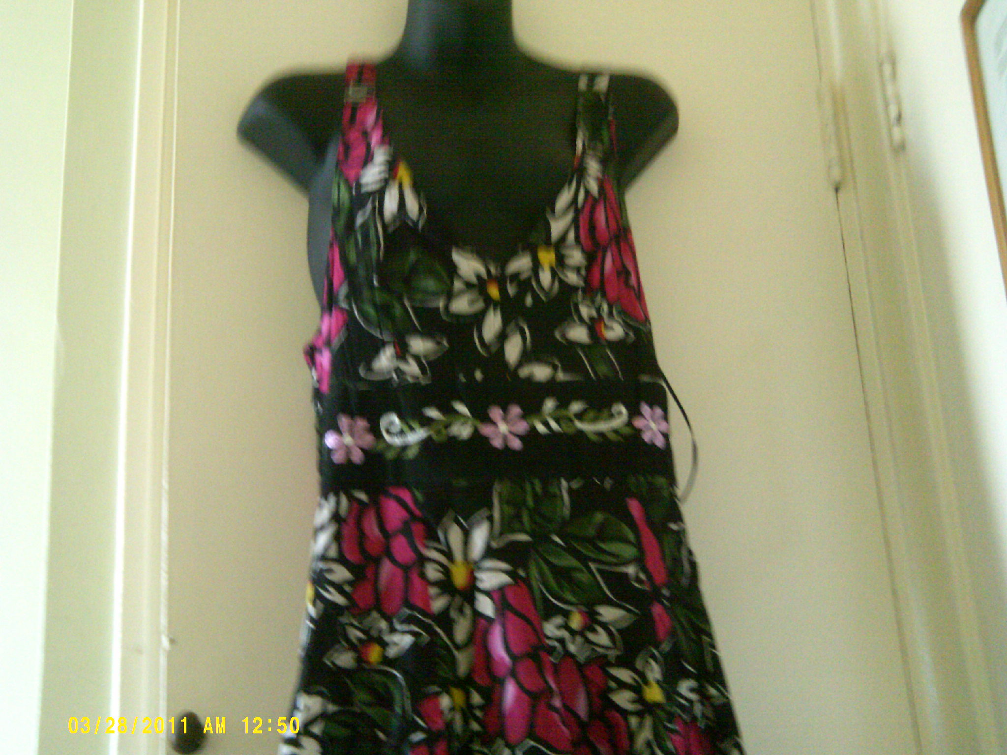 maxi dress floral inside slip